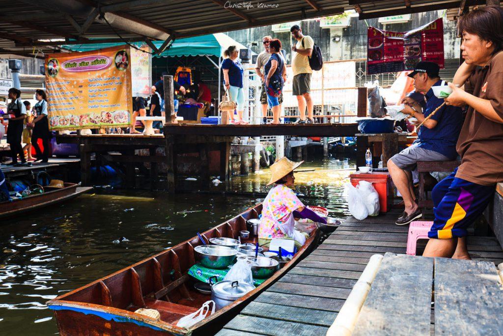 schwimmende Märkte in Bangkok