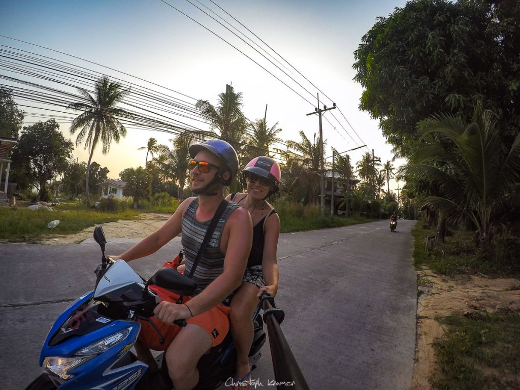 Rollertour auf Koh Phangan