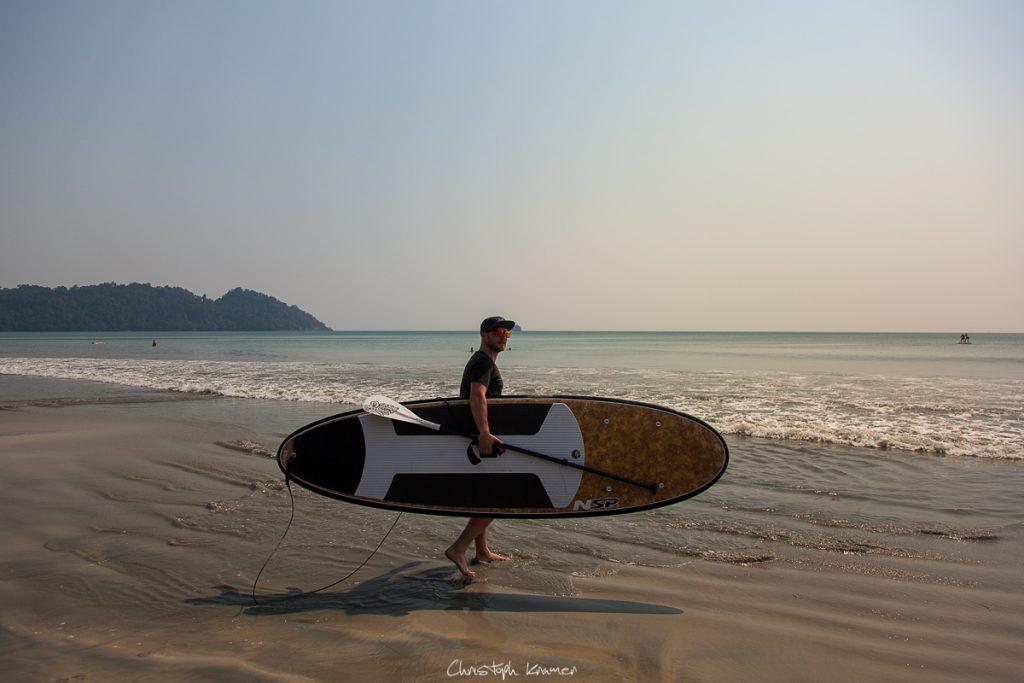 SUP Surfing auf Koh Phayam