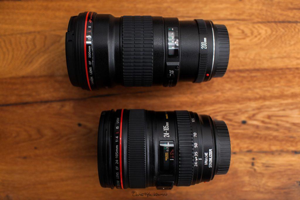 Das EF 200 mm im Vergleich zum EF 24-105 mm