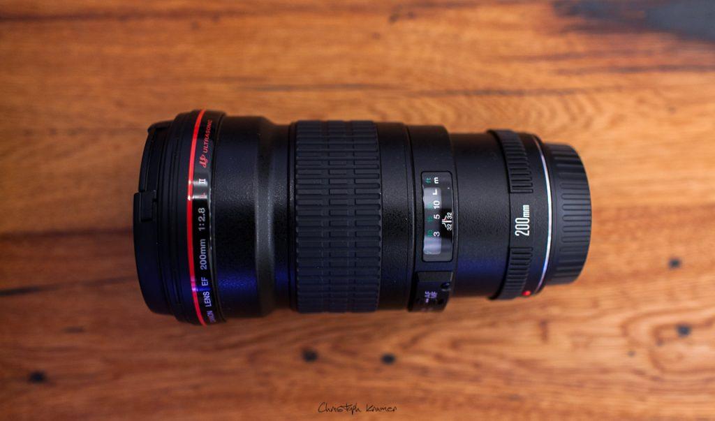 Das Canon EF 200 f2,8 L USM II Objektiv