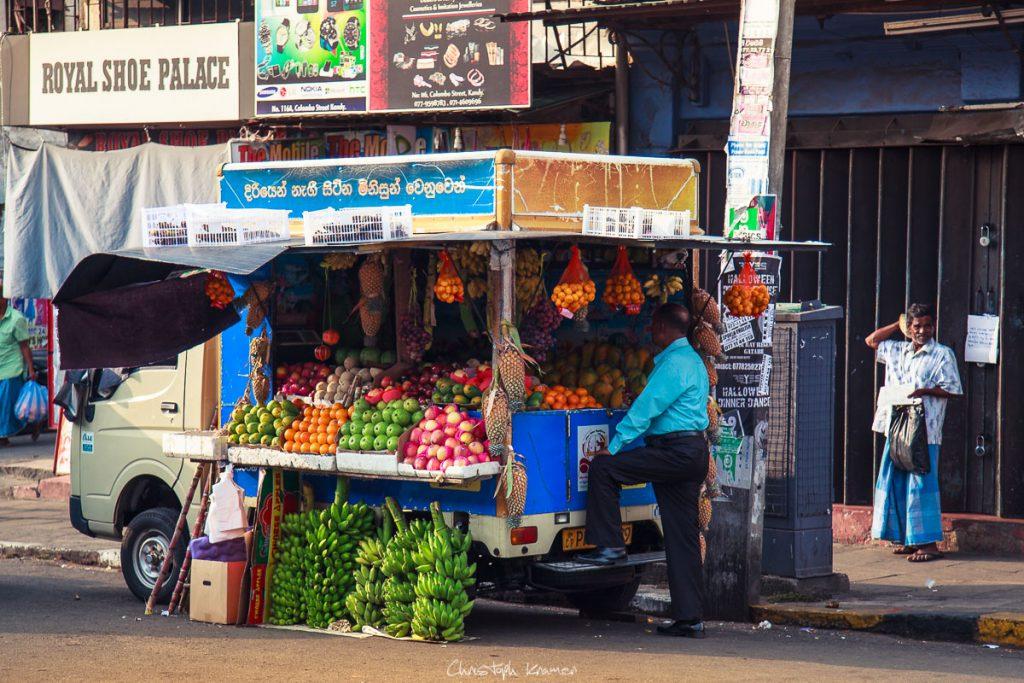 Straßenverkauf in Kandy City