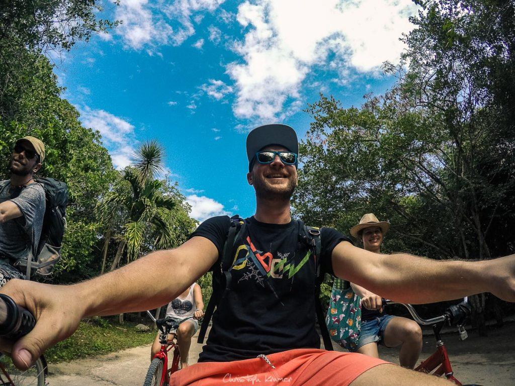 Mit dem Rad durch Tulum