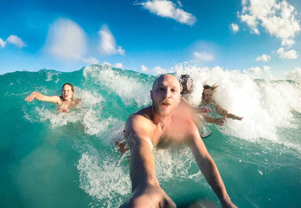 Wavejumping im Golf von Mexiko
