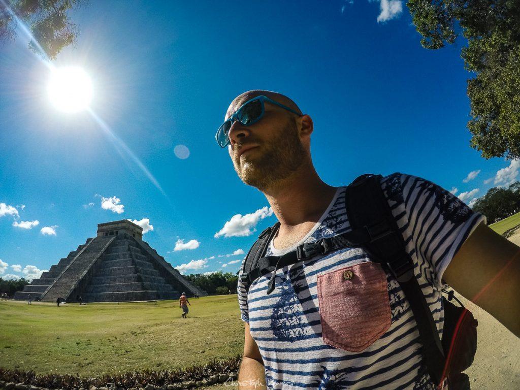 Auf dem Tempel Areal von Chichen Itza