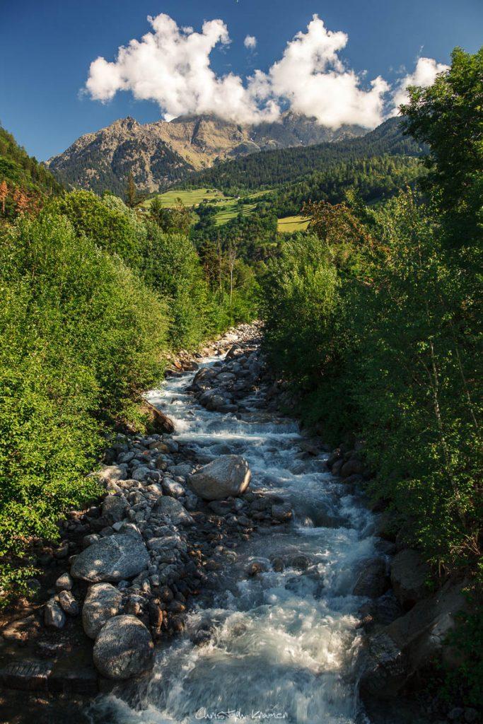 Ausläufer des Partschinser Wasserfalls
