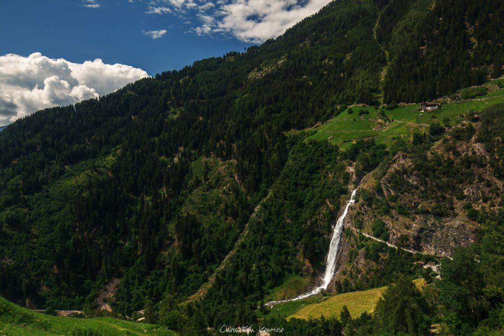 Ausblick auf den Partschinser Wasserfall