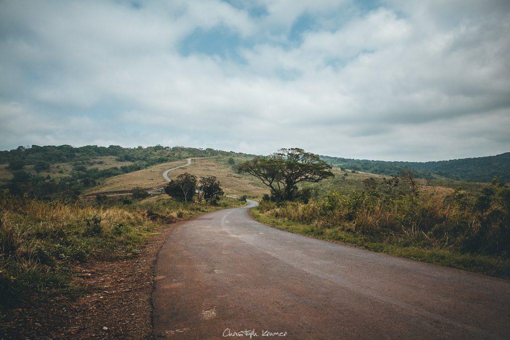Straße im Hluhluwe Nationalpark