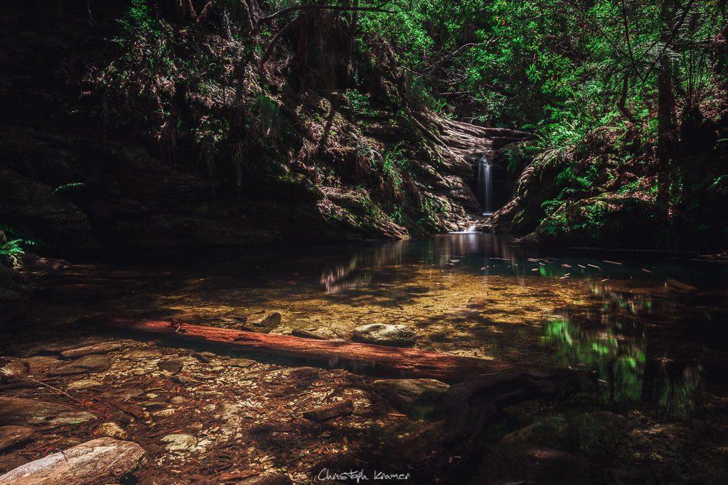 kleiner Wasserfall am Ziel des Jubilee Creek Trails