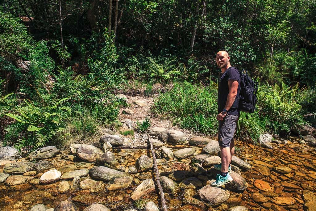 Überqueren des Jubilee Creek