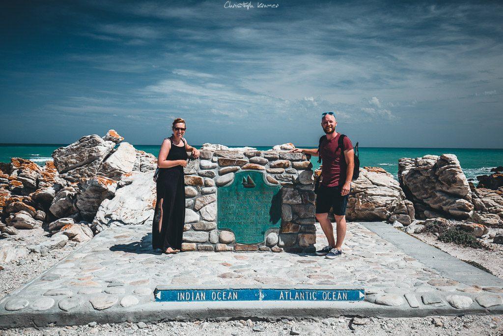 Am Markierungsstein Cape Agulhas