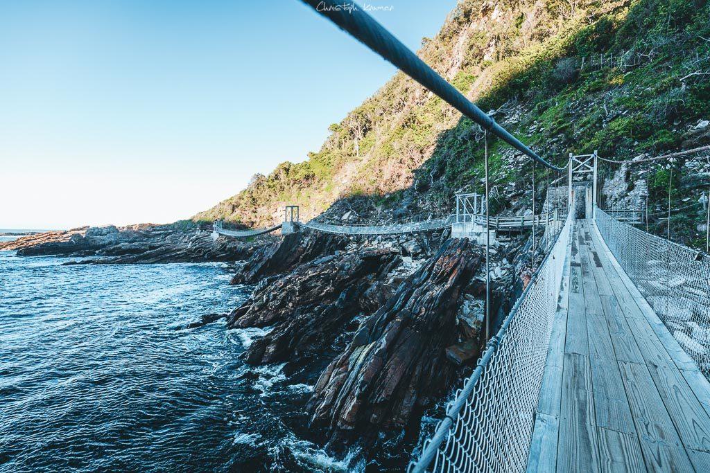 Hängebrücke am Storm River Mouth