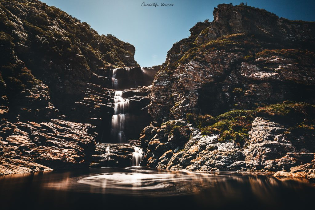 Wasserfall am Ende des Waterfall Trails