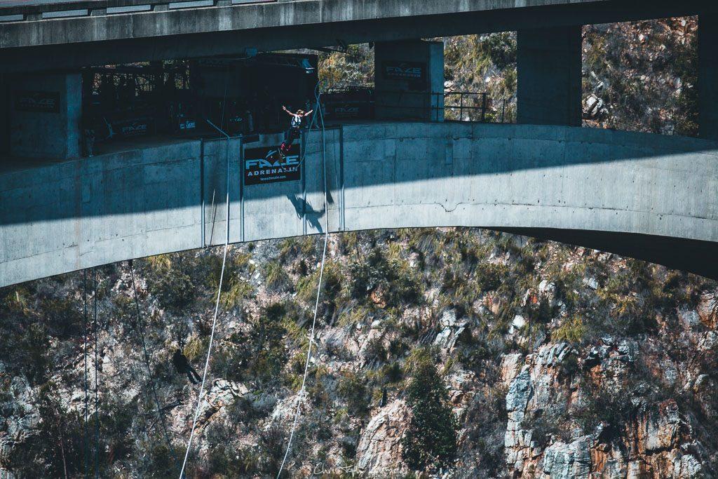 Bungee Jumping von der Bloukrans Bridge