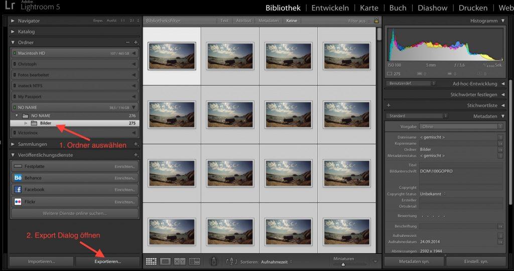 Lightroom: Bilder exportieren