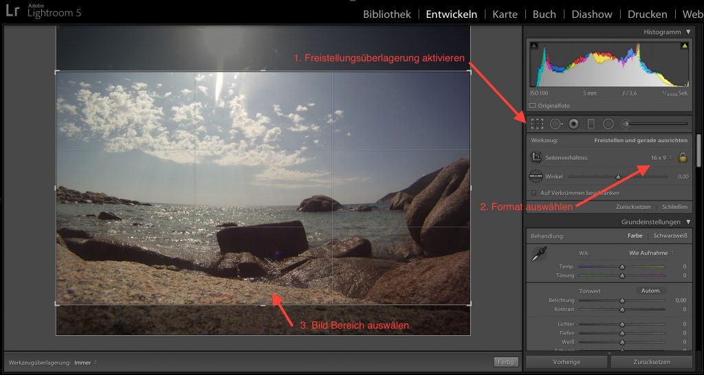 Lightroom - Format definieren