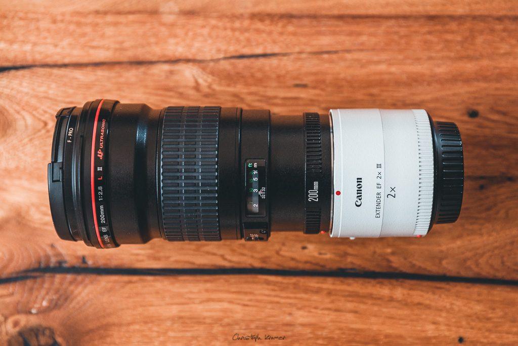 Canon 2x Extender III an der EF 200 f2,8L Festbrennweite