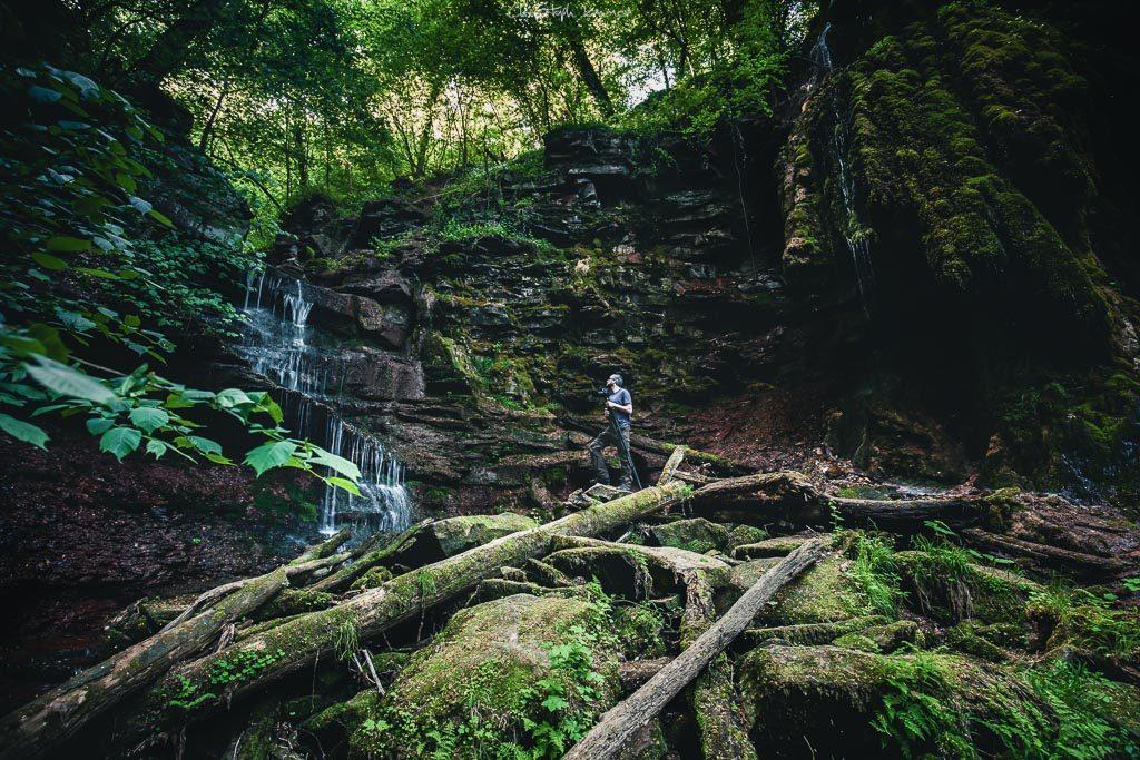 Der triefende Stein in der Klingelsbach-Schlucht