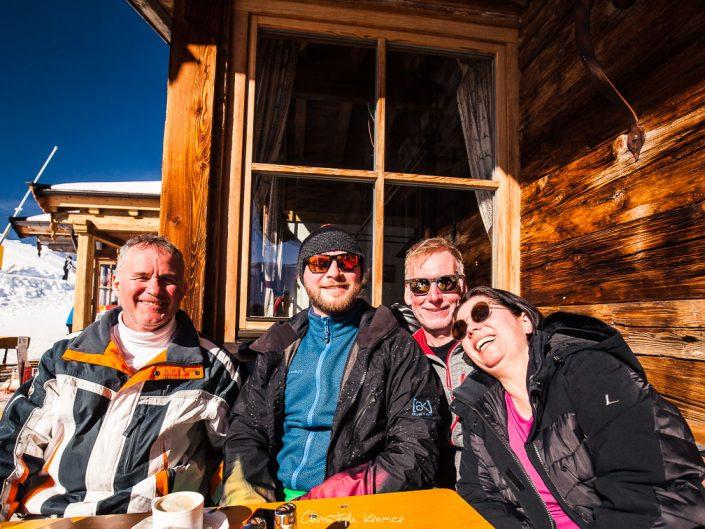 Mittagspause auf der Hütte