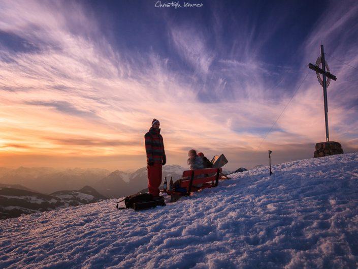 Sonnenuntergang auf dem Schatzberg
