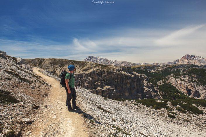 Blick in das Tal der Sextner Dolomiten