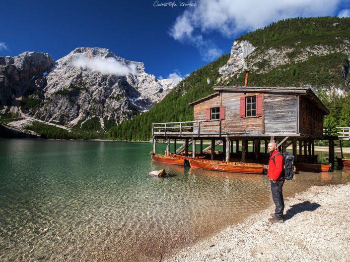 Das Bootshaus vom Pragser Wildsee