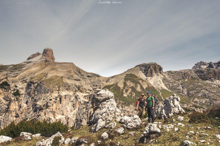 atemberaubendes Areal der Sextner Dolomiten
