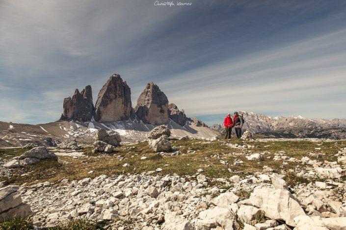 Panorama Blick auf die drei Zinnen