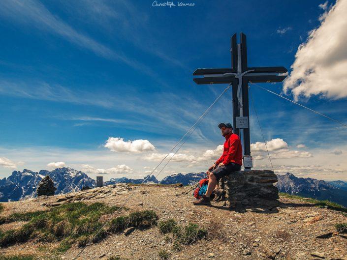 Auf dem Gipfel des Hornischegg