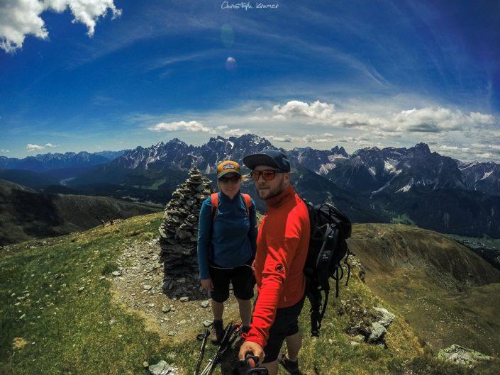 Selfie auf dem Gipfel des Hornischegg