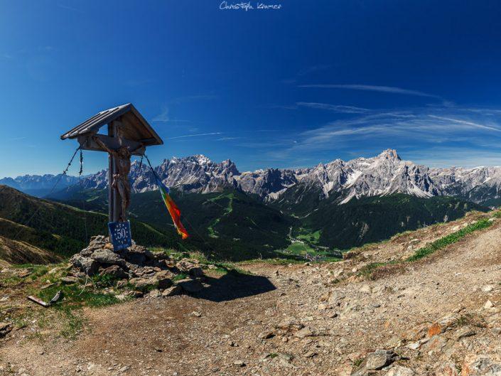 Ausblick vom Helm (Monte Elmo) in die Sextner Dolomiten