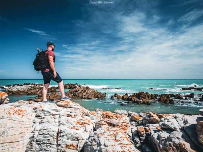 felsige Küste am Cape Agulhas