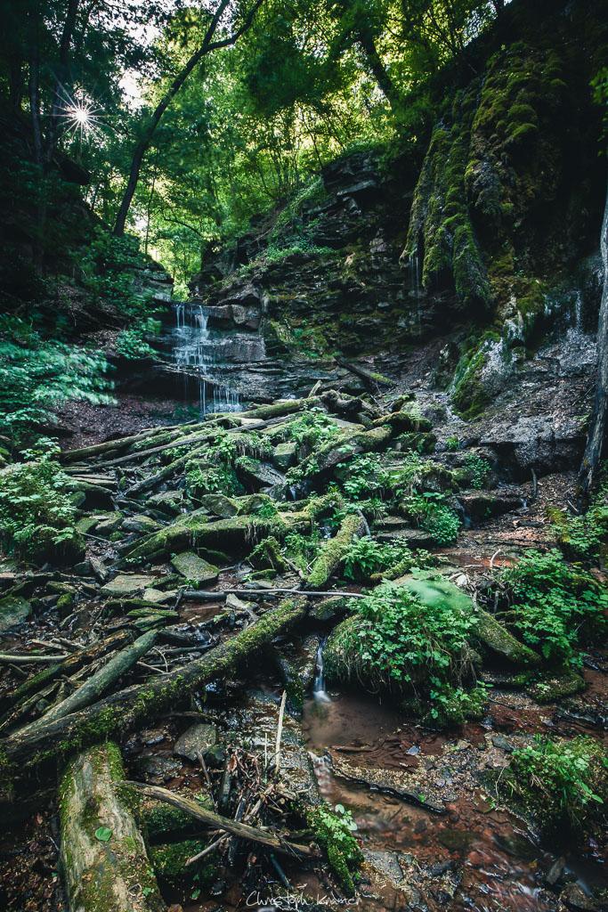 Wasserfall in der Klingelsbach-Schlucht