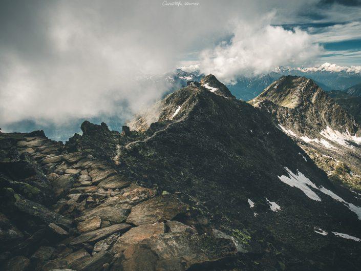 Der Weg zum Eggishorn Gipfel