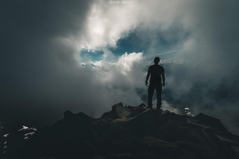auf dem Gipfel des Eggishorn