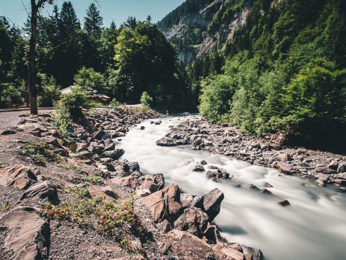 Fluss am Blausee
