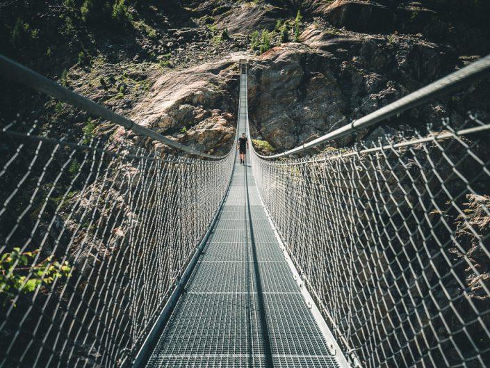 Hängebrücke am Aletschgletscher