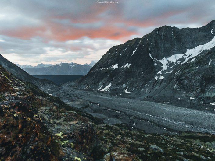 Sonnenaufgang über dem Aletschgletscher