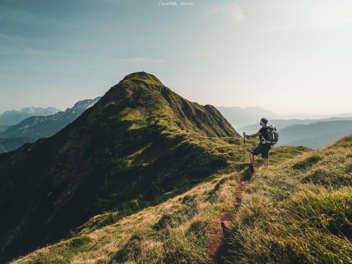 Blick auf den Gipfel des Spielberghorns
