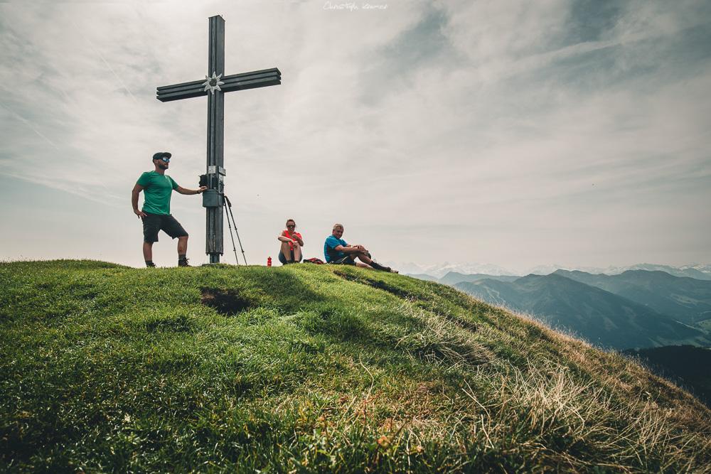 Am Gipfel des Spielberghorns angekommen