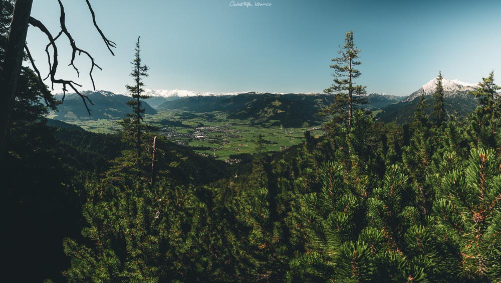 Blick auf das Leoganger Tal