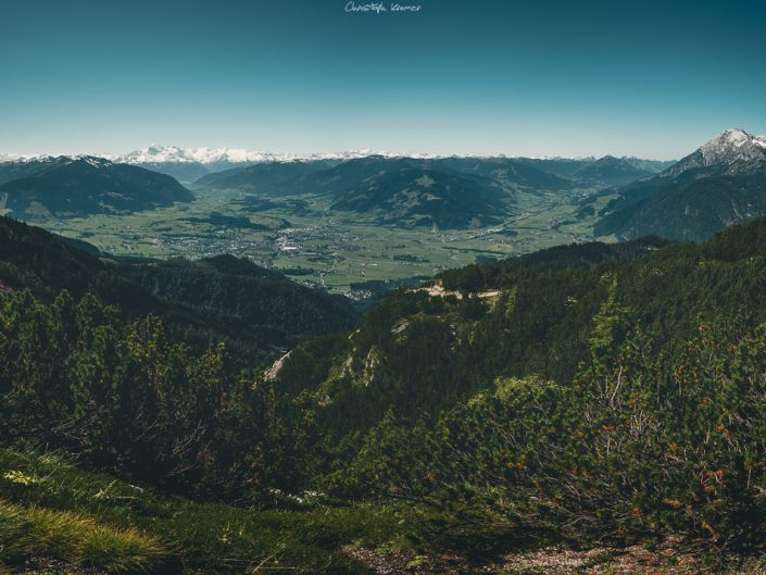 Ausblick auf die Leoganger Alpen