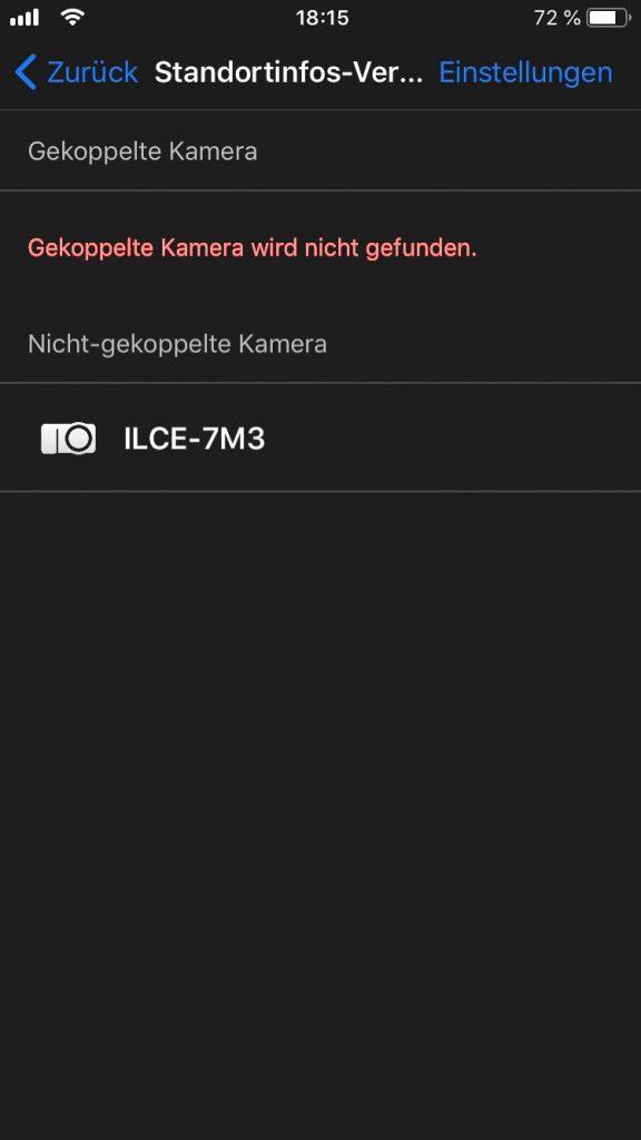 Kamera auswählen
