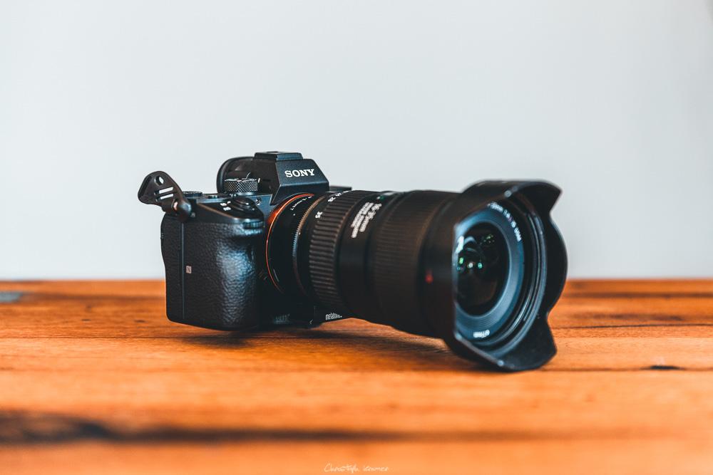 Die Sony A7 III mit Metabones Adapter und Canon EF Objektiv