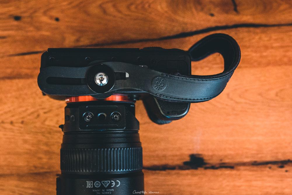 Befestigung des Spider Light ohne Kameraplatte