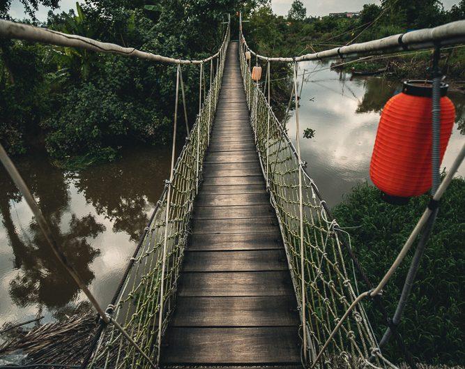 Hängebrücke über den Mekong