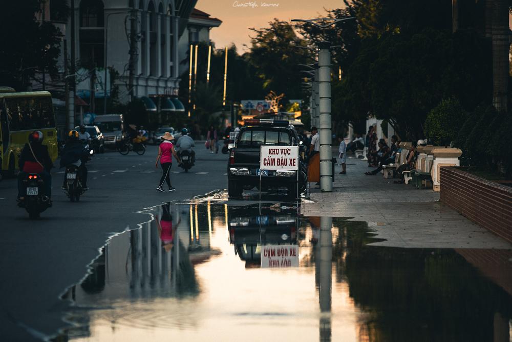 Die Uferpromenade von Can Tho