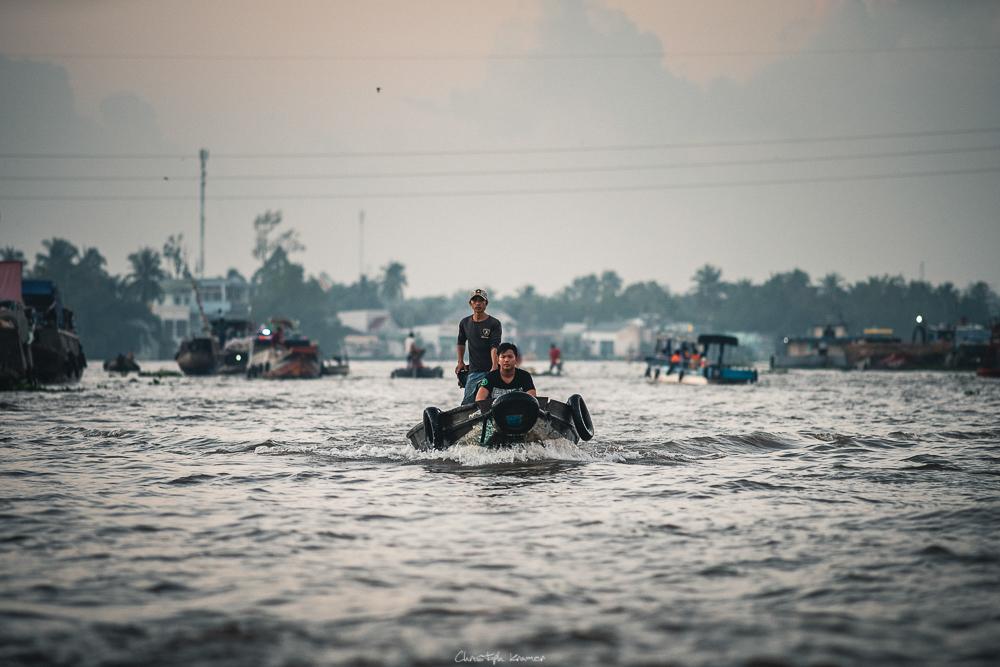 Händler auf dem Mekong