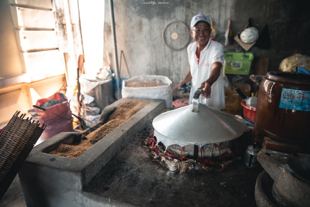 So werden Reisnudel gemacht