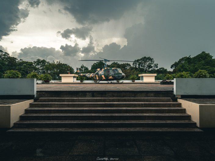 Helikopter Landeplatz im Wiedervereinigungspalast